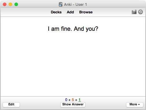 I am fine card